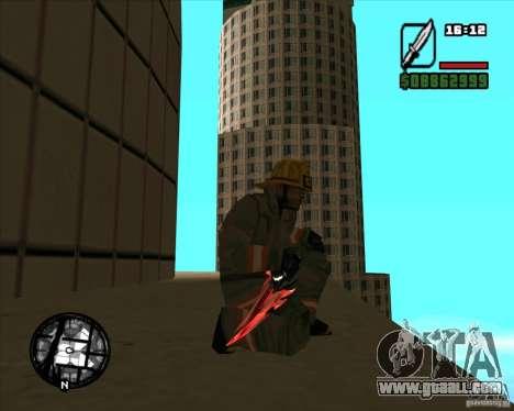 Chrome black red gun pack for GTA San Andreas fifth screenshot