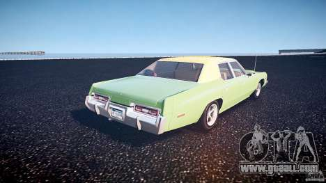 Dodge Monaco 1974 for GTA 4 back left view