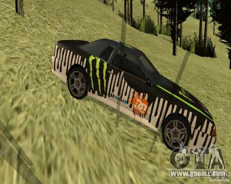 Monster Energy Vinyl for GTA San Andreas left view