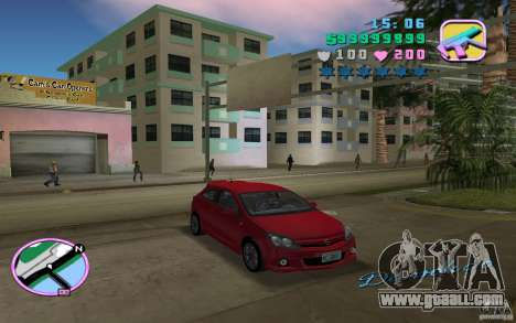 Opel Astra OPC 2006 for GTA Vice City back left view