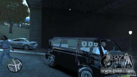 Volkswagen Transporter T3 for GTA 4 upper view