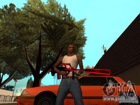 Red Chrome Weapon Pack for GTA San Andreas eighth screenshot