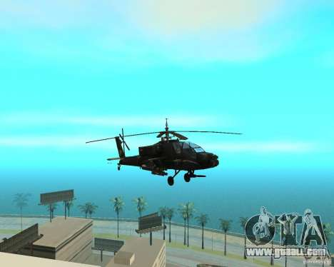 Ka-50 Black Shark for GTA San Andreas back view