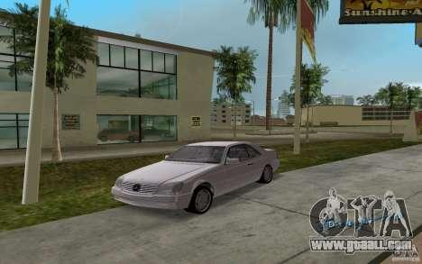 Mercedes-Benz 600SEC (C140) 1992 for GTA Vice City