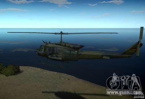 Bell UH-1D German Bundeswehr for GTA 4 left view