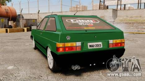 Volkswagen Gol GL 1992 Edit for GTA 4 back left view