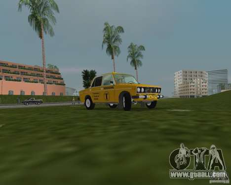 Vaz 2106 Taxi for GTA Vice City back left view