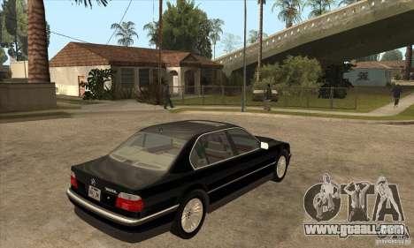 BMW E38 750IL for GTA San Andreas right view