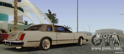 Virgo Continental for GTA San Andreas back view