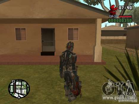 The costume of the games Dead Space 2 for GTA San Andreas forth screenshot