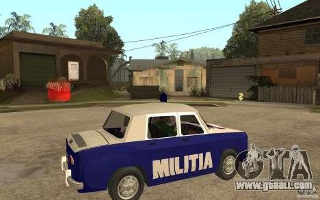 Dacia 1100 Militie for GTA San Andreas right view