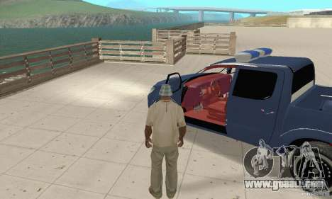 Toyota Hilux Somaliland Police for GTA San Andreas back view