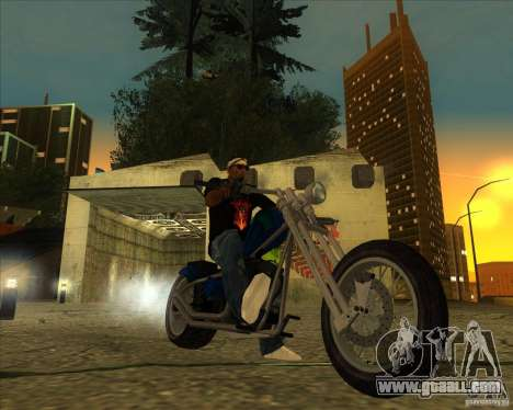 Hexer bike for GTA San Andreas back left view