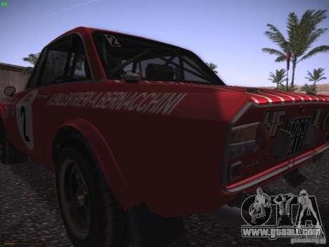 Lancia Fulvia Rally Marlboro for GTA San Andreas back view