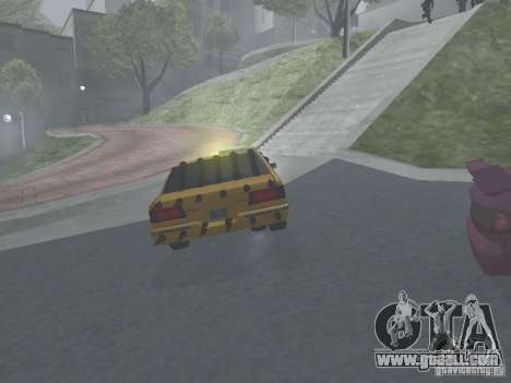 Zombie Taxi for GTA San Andreas back view