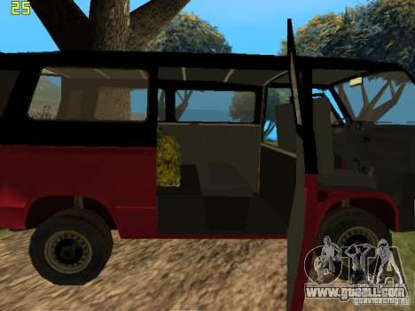 Volkswagen Transporter T3 for GTA San Andreas back view