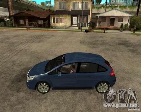 Citroen C4 SX 1.6 HDi for GTA San Andreas left view