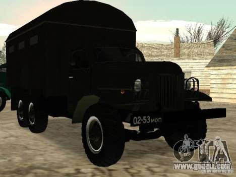 ZIL 157 for GTA San Andreas inner view