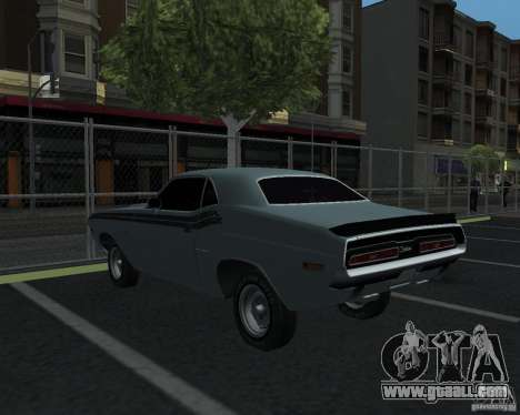 Dodge Chellenger V2.0 for GTA San Andreas back left view