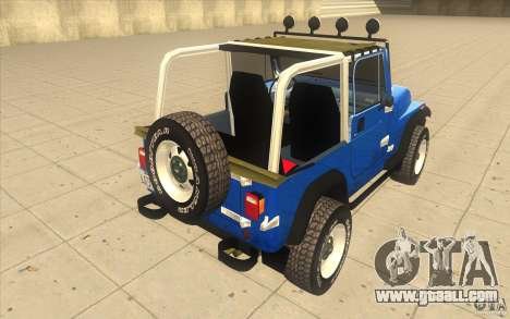 Jeep Wrangler 4.0 Fury 1986 for GTA San Andreas back left view