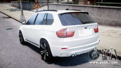 BMW X5M Chrome for GTA 4 back left view