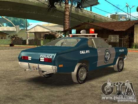 Plymout Duster 340 POLICE v2 for GTA San Andreas right view
