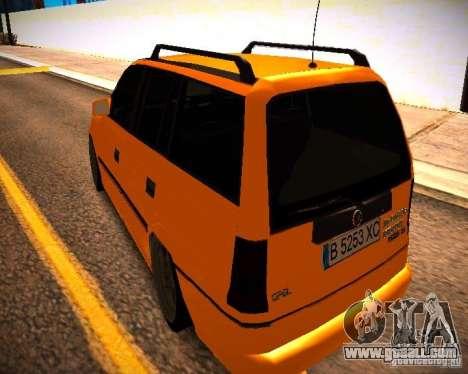 Opel Astra GSI Caravan for GTA San Andreas back left view