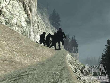 Mt. Chiliad Creature for GTA San Andreas third screenshot