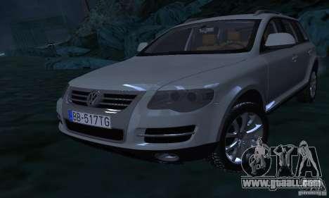 Volkswagen Touareg for GTA San Andreas upper view