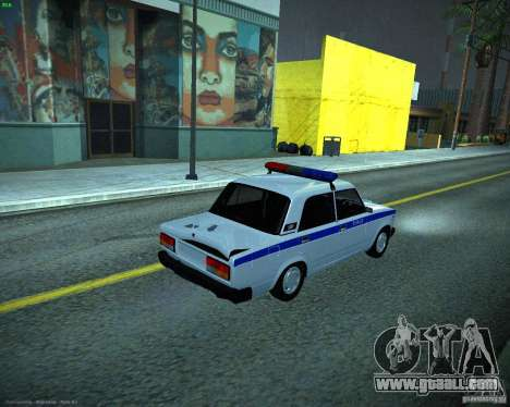 VAZ 2107 Police for GTA San Andreas back view