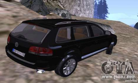 Volkswagen Touareg for GTA San Andreas back left view