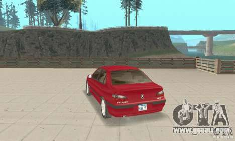 Peugeot 406 stock for GTA San Andreas back left view