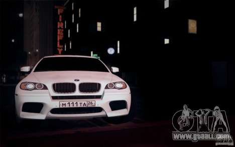 BMW X6M E71 for GTA San Andreas inner view