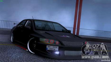 Mitsubishi Lancer Evolution 8 Drift for GTA San Andreas upper view