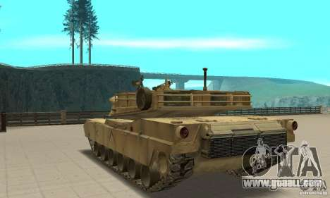 Tank M1A2 Abrams for GTA San Andreas back left view