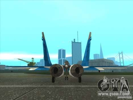 MiG-29 the Swifts for GTA San Andreas back left view