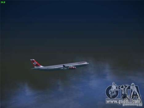 Airbus A340-300 Swiss International Airlines for GTA San Andreas side view