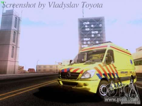 Mercedes-Benz Sprinter Ambulance for GTA San Andreas