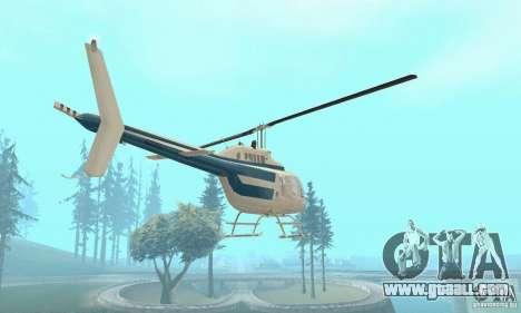 Bell 206B JetRanger II for GTA San Andreas back view