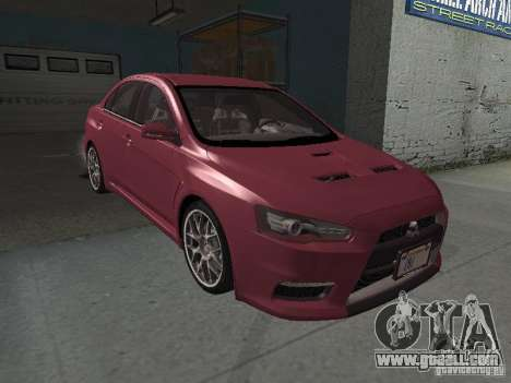 Mitsubishi Evolution X Stock-Tunable for GTA San Andreas bottom view