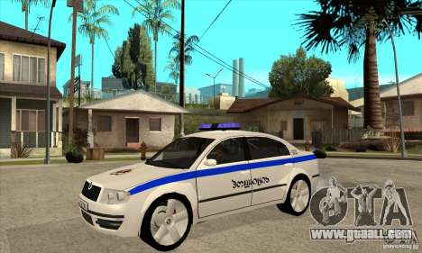Skoda SuperB GEO Police for GTA San Andreas