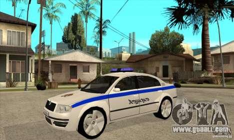 Skoda SuperB GEO Police for GTA San Andreas
