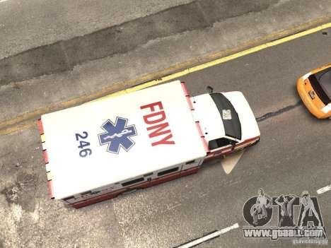 Chevrolet Ambulance FDNY v1.3 for GTA 4 upper view