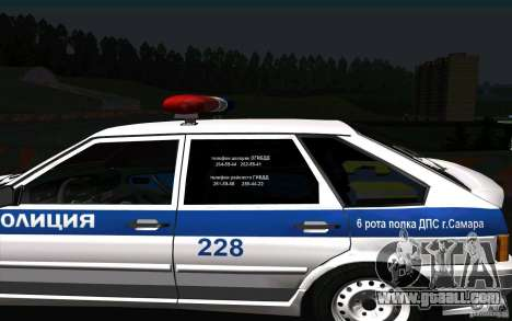VAZ 2114 Police DPS for GTA San Andreas back left view