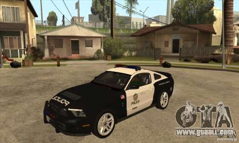 Shelby GT500 2010 Police for GTA San Andreas