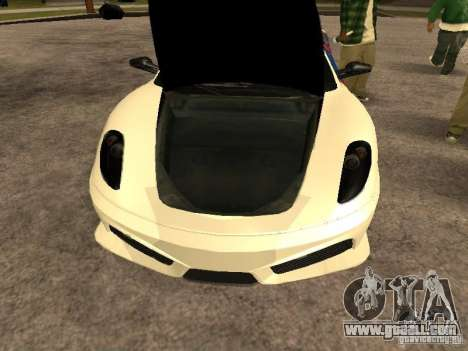 Ferrari Scuderia Indonesian Police for GTA San Andreas back view