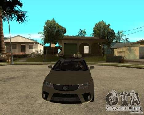 KIA Forte Coup for GTA San Andreas back view