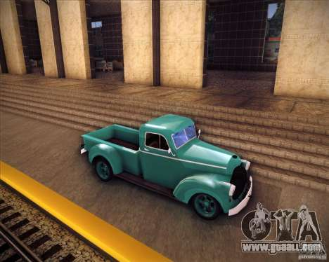 Shubert pickup for GTA San Andreas left view
