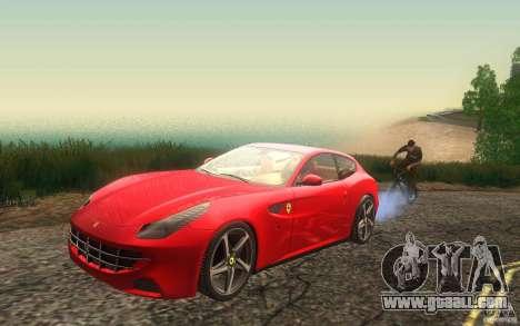 Ferrari FF for GTA San Andreas inner view