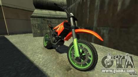 Stunt Supermotard Sanchez for GTA 4 left view